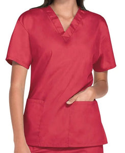 UNISEX 2 POCKET V NECK SCRUB TOP