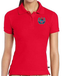 JUNIORS SHORT SLEEVE COTTON POLO W/LOGO - ELEM