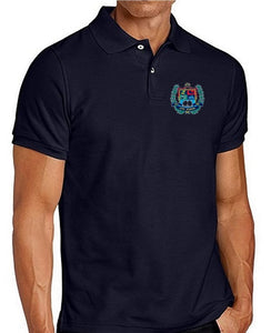 MENS SHORT SLEEVE COTTON POLO W/LOGO - ELEM