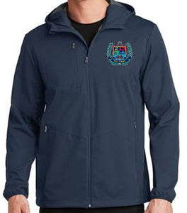 MENS ACTIVE HOODED SOFTSHELL JACKET W/LOGO