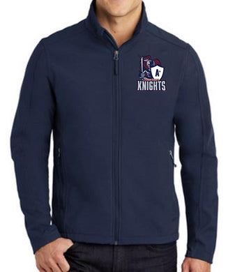 UNISEX ADULT SOFT SHELL JACKET W/ LOGO
