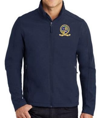 UNISEX ADULT SOFT SHELL JACKET W/LOGO
