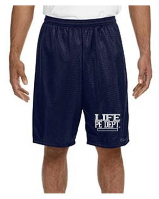 ADULT ATHLETIC SHORTS - LIFE SCHOOL PE