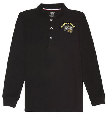 GIRLS LONG SLEEVE POLO W/LOGO