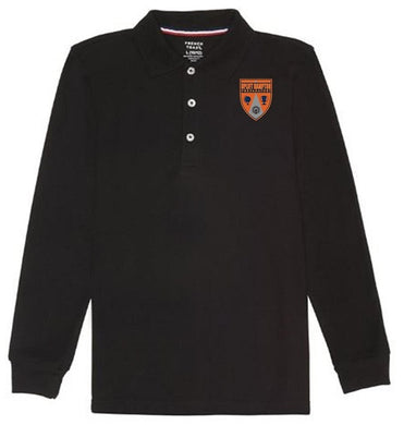 GIRLS LONG SLEEVE POLO W/ LOGO