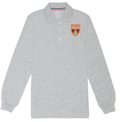 BOYS LONG SLEEVE POLO W/ LOGO
