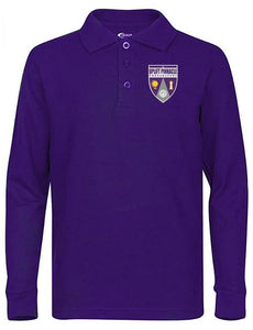 UNISEX YOUTH LONG SLEEVE POLO W/ LOGO