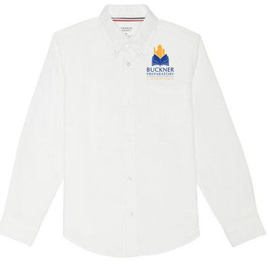 BOYS LONG SLEEVE OXFORD W/LOGO