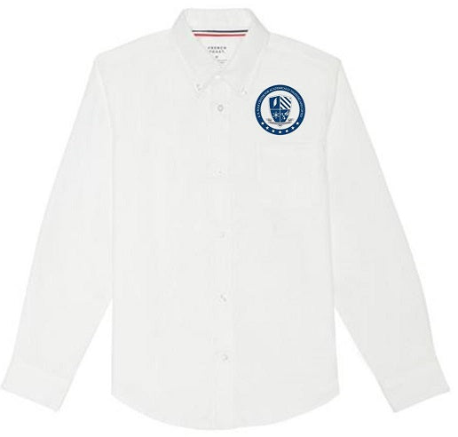 BOYS LONG SLEEVE OXFORD W/LOGO (6TH GRADE ONLY)