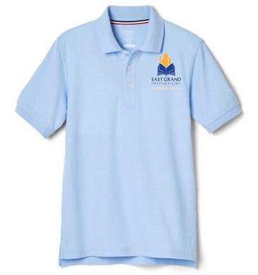 BOYS SHORT SLEEVE POLO W/LOGO (MIDDLE SCHOOL ONLY)