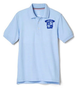 BOYS SHORT SLEEVE POLO W/LOGO