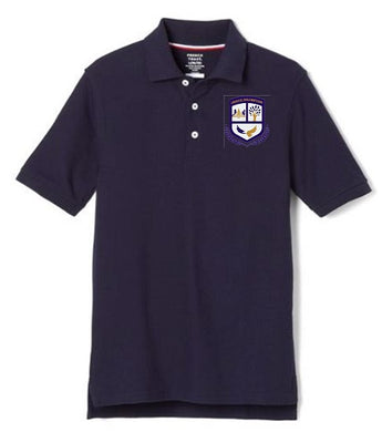 BOYS SHORT SLEEVE POLO W/ LOGO - MONTESSORI
