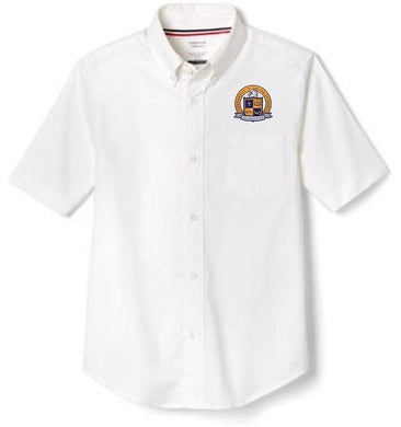 BOYS SHORT SLEEVE OXFORD W/ LOGO