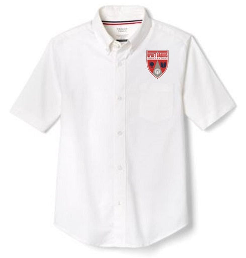 BOYS SHORT SLEEVE OXFORD W/LOGO