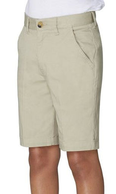 BOYS FLAT FRONT STRETCH SHORTS