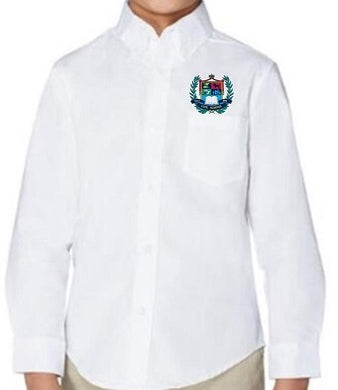 BOYS LONG SLEEVE OXFORD SHIRT W/LOGO