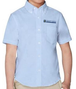 BOYS SHORT SLEEVE OXFORD SHIRT W/LOGO