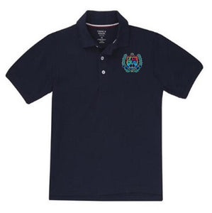 BOYS SHORT SLEEVE COTTON POLO W/LOGO - SEC