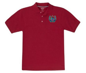 BOYS SHORT SLEEVE COTTON POLO W/LOGO - ELEM