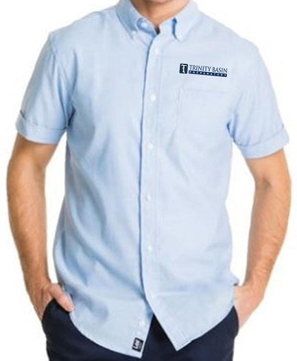 MENS SHORT SLEEVE OXFORD SHIRT W/LOGO