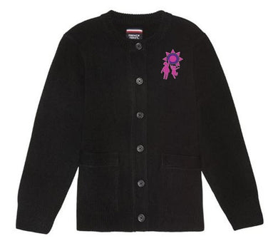 GIRLS CARDIGAN SWEATER W/LOGO