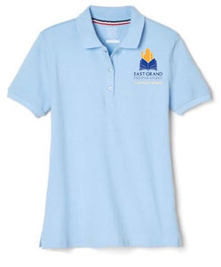 GIRLS SHORT SLEEVE POLO W/LOGO (MIDDLE SCHOOL ONLY)