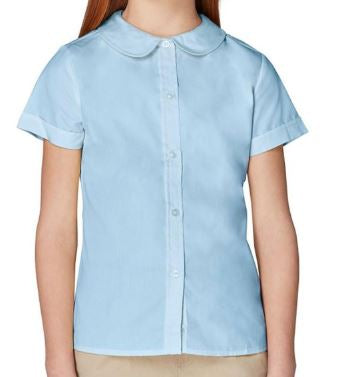 GIRLS PETER PAN SHORT SLEEVE BLOUSE