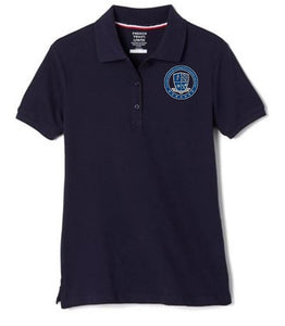 GIRLS SHORT SLEEVE POLO W/ LOGO (6TH GRADE ONLY)