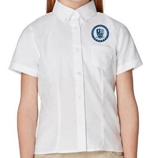 GIRLS SHORT SLEEVE OXFORD W/ LOGO (6TH GRADE ONLY)