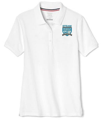 GIRLS SHORT SLEEVE POLO W/LOGO