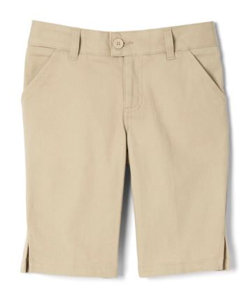 GIRLS ADJUSTABLE WAIST BERMUDA SHORTS