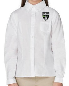 GIRLS LONG SLEEVE OXFORD W/LOGO