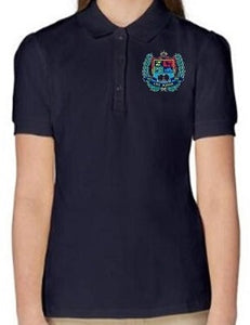 GIRLS SHORT SLEEVE COTTON POLO W/LOGO - ELEM