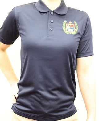 GIRLS SHORT SLEEVE PERFORMANCE POLO W/LOGO - ELEM