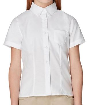 GIRLS SHORT SLEEVE OXFORD