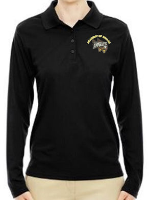 JUNIOR LONG SLEEVE POLO W/LOGO