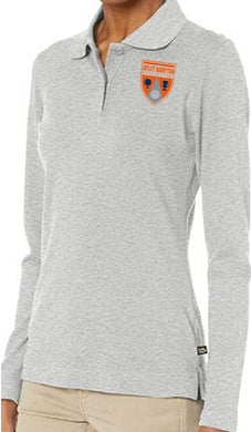 JUNIOR LONG SLEEVE POLO W/ LOGO