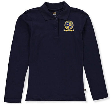 JUNIORS LONG SLEEVE POLO W/LOGO