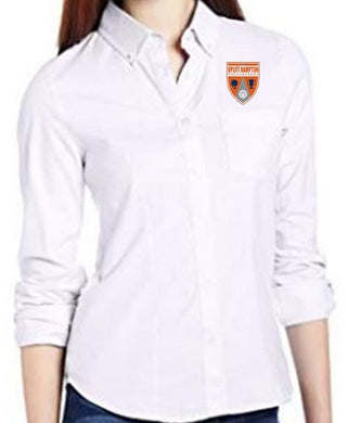 JUNIOR LONG SLEEVE OXFORD W/ LOGO