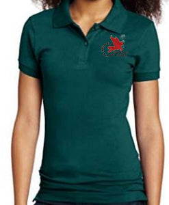 LADIES SHORT SLEEVE POLO W/ LOGO