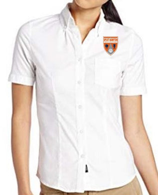 JUNIOR SHORT SLEEVE OXFORD W/ LOGO