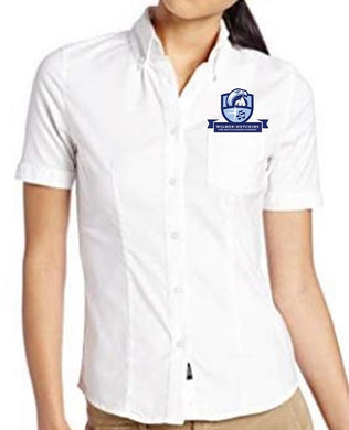 JUNIORS SHORT SLEEVE OXFORD W/LOGO