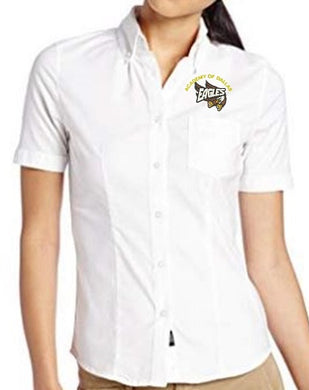 JUNIOR SHORT SLEEVE OXFORD W/LOGO