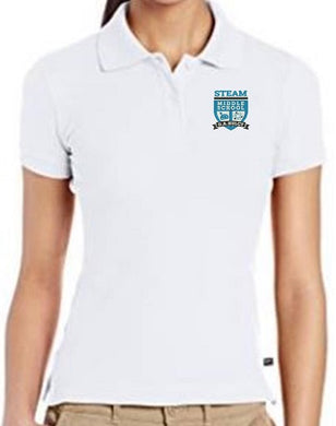 JUNIORS SHORT SLEEVE POLO W/ LOGO