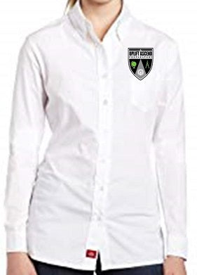 JUNIOR LONG SLEEVE OXFORD W/LOGO