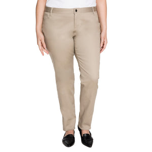 LADIES PLUS CLASSIC 5 POCKET SKINNY LEG PANT - SEC