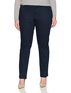LADIES PLUS CLASSIC 5 POCKET SKINNY LEG PANT - ELEM