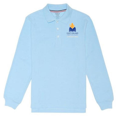 UNISEX LONG SLEEVE POLO W/LOGO (MIDDLE SCHOOL ONLY)