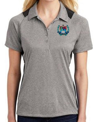 LADIES HEATHER COLORBLOCK CONTENDER POLO W/LOGO