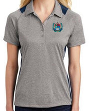 Load image into Gallery viewer, LADIES HEATHER COLORBLOCK CONTENDER POLO W/LOGO